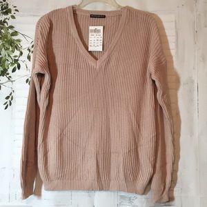 Brandy Melville V Neck soft pink sweater